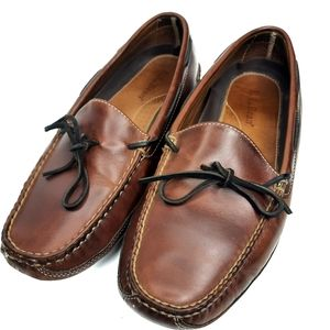 L.L. Bean Mens Leather Double Sole Slipper